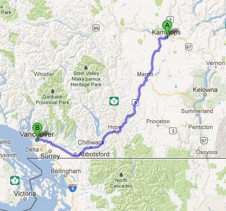 B.C. Map -