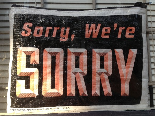 Sorry We're Sorry - Colleen Friesen